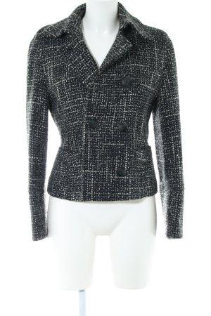 Brigitte von Boch Woll-Blazer schwarz-weiß Allover-Druck Business-Look