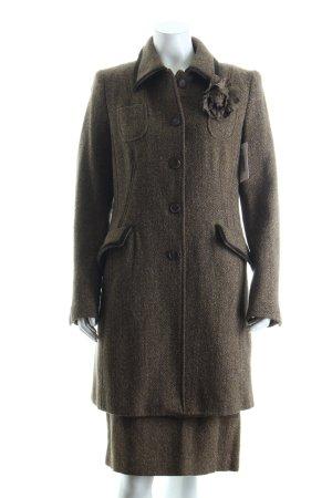 Brigitte von Schönfels Ladies' Suit ocher-olive green herringbone pattern