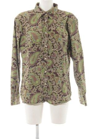 Brigitte von Schönfels Langarmhemd abstraktes Muster extravaganter Stil