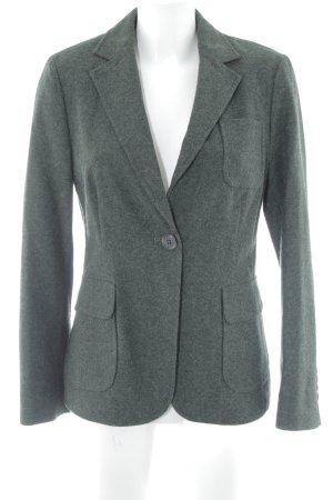 Brigitte von Schönfels Woll-Blazer dunkelgrün schlichter Stil