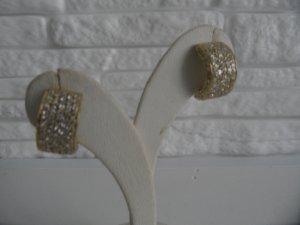 Brillant Diamant Kreolen Creolen in aus 585 Gelbgold mit Brillianten Design -