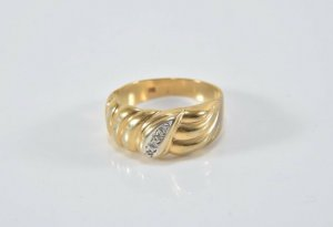 Brillanten 333er gold Ring mit 4 Diamanten 8kt goldring Brillantring Diamantring Design