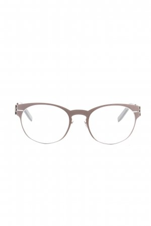 Glasses brown metal look