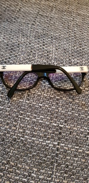 Chanel Bril wit-zwart