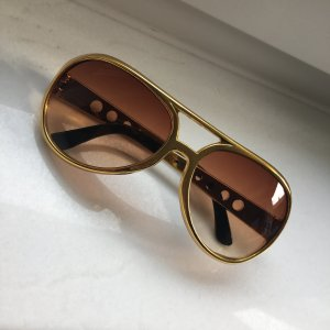 Brille im Elvis-Style, in gold