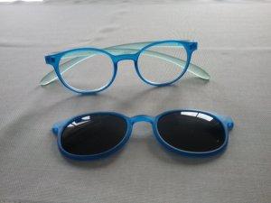 Occhiale blu acciaio-azzurro Vetro