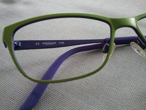 Morgan Lunettes vert clair-violet foncé métal