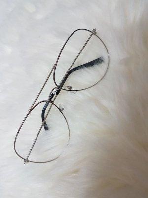 Occhiale bianco-argento