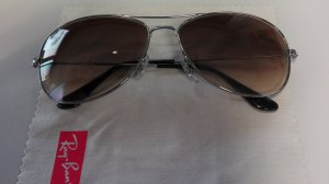 Brille Ray Ban Aviator Silber