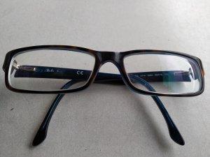 Ray Ban Lunettes brun foncé-bleu fluo