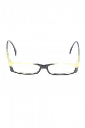 Glasses black-dark yellow casual look