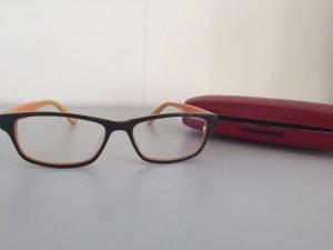 Brille schwarz orange von Fielmann
