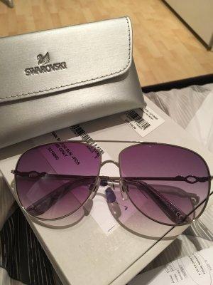 Brille Swarovski Silber/Violett