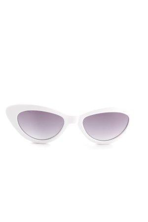 Bril wit extravagante stijl