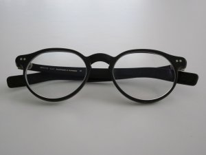 Glasses black synthetic material