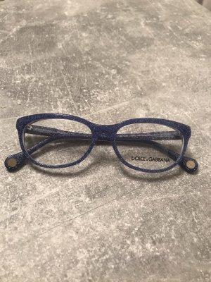 Brillenfassung von D&G blau mit Glitzer