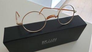 Braun Classics Occhiale oro-marrone chiaro