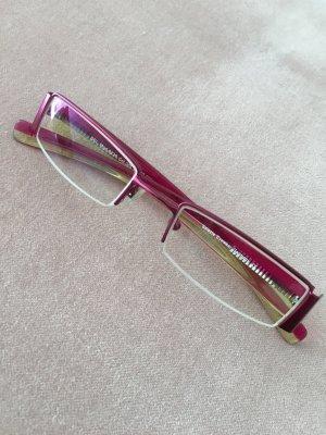 Brillengestell Transparentoptik pink grün