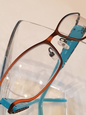 Glasses bronze-colored-turquoise