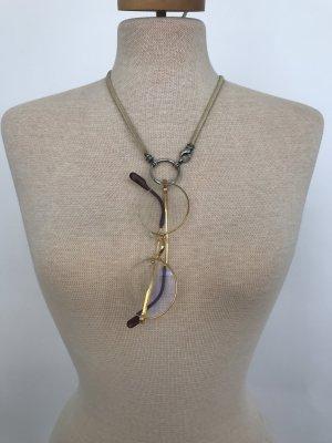 Brillenkette von La Loop Classic Lesther beige/Silber