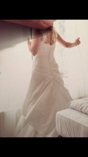 8 A-lijn jurk wit Zijde