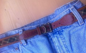 Chain Belt cognac-coloured