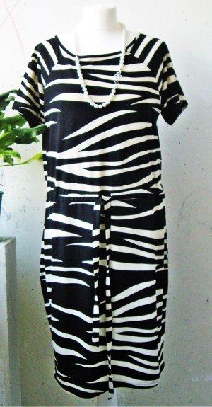 Broadway: Kleid schwarz-ecru (M)