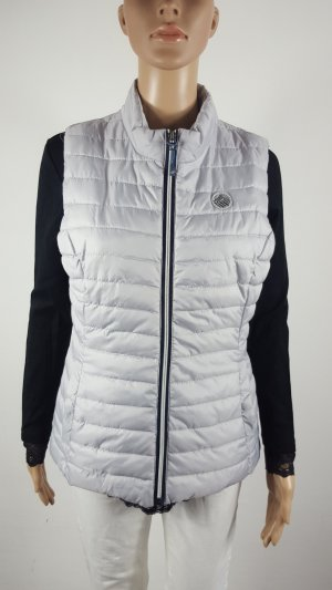 Quilted Gilet silver-colored