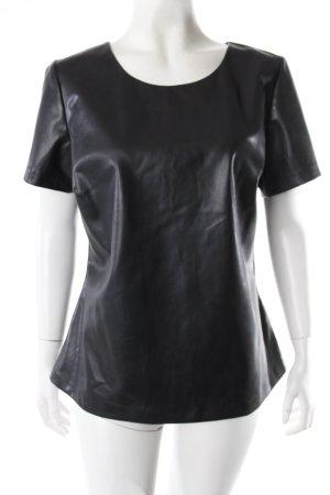 Broadway Shirt schwarz Lederoptik