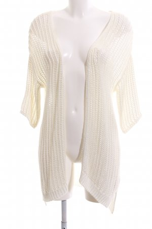 Broadway Strick Cardigan creme Zopfmuster Casual-Look