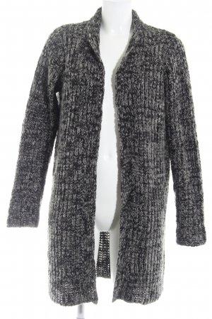 Broadway Strick Cardigan schwarz-grau meliert Casual-Look