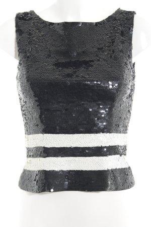 Broadway Trägertop schwarz-weiß Streifenmuster Elegant