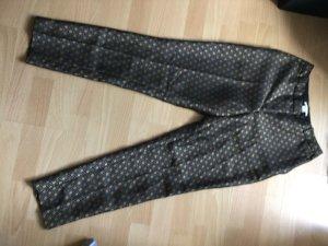 Brokat-Hose von H&M, Gr. 36 (schwarz/gold)
