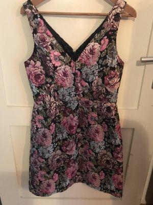 Brokat Kleid floral Blumen Trend H&M Gr 38