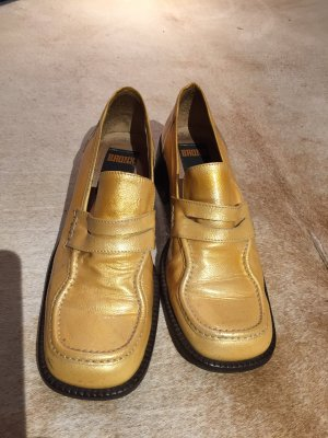 Bronx Low Shoes gold-colored