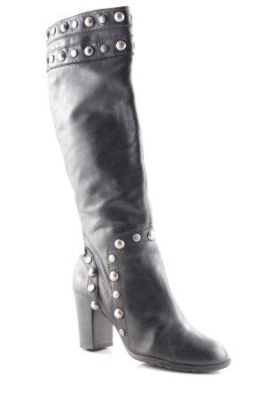 Bronx Absatz Stiefel schwarz-bronzefarben Party-Look