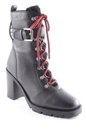 Bronx Absatz Stiefel schwarz Street-Fashion-Look