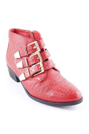 Bronx Ankle Boots rot extravaganter Stil