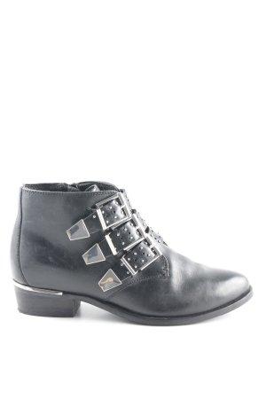 Bronx Ankle Boots schwarz Biker-Look