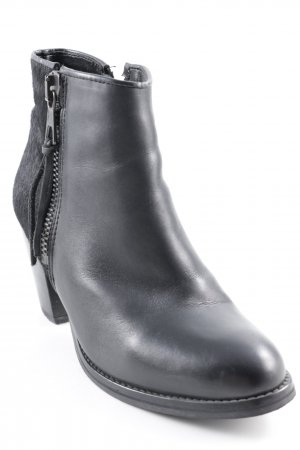 Bronx Ankle Boots schwarz Business-Look