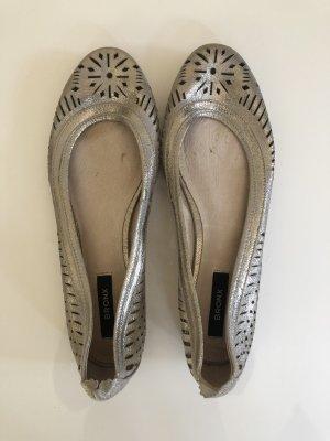 Bronx Mary Jane Ballerinas silver-colored