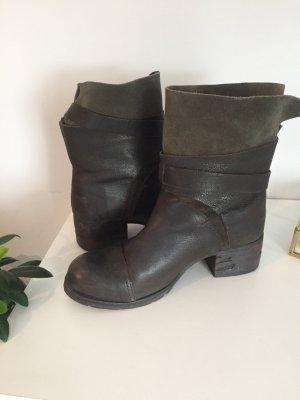 Bronx Boots dunkelbraun / Khaki