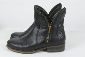 Bronx Boots Gr. 38 schwarz Leder