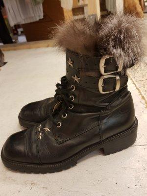Bronx - Boots mit Fellrand - Gr. 38