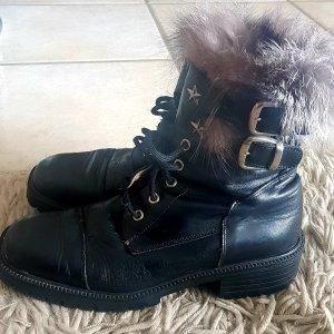 Bronx - Boots mit Fellrand - Leder - Gr. 38