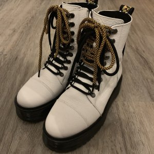 Bronx Boots weiß Leder Plateau