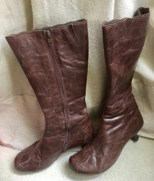 Bronx braune Herbst Stiefel Gr. 37 Echtleder