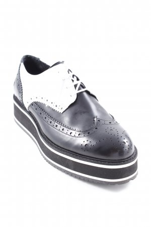 Bronx Wingtip Shoes black-white business style