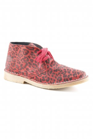 Bronx Chelsea Boot rouge-noir motif animal style mode des rues