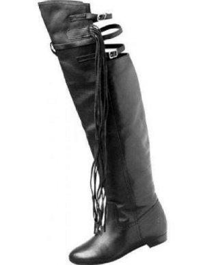 BRONX Damen-Overknee-Stiefel schwarz Gr.36